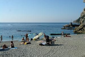 Spiaggia libera Monterosso Freie Strände in Ligurien