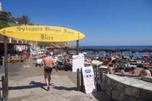 Spiaggia Borgo Foce Strande i Ligurien