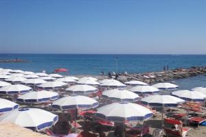 La Scala Azzurra Strande i Ligurien