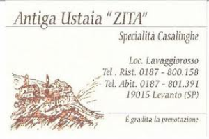 Antugua Ustaia Zita Restaurants in Ligurien
